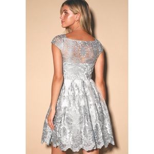 "Lulus ""Princess Time"" Lace Mesh Short Sleeve Dress"